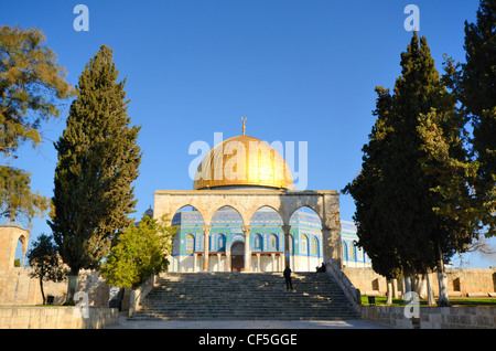 Dome of the Rock on the Temple Mount in Jerusalem, Israel. - Stock Photo
