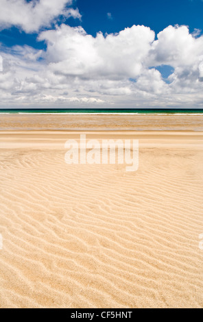 Sand patterns on Garry beach on the Isle of Lewis. - Stock Photo