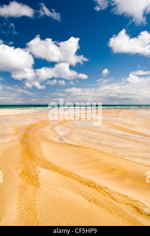 A perfect summers day on Garry beach in the Isle of Lewis. - Stock Photo