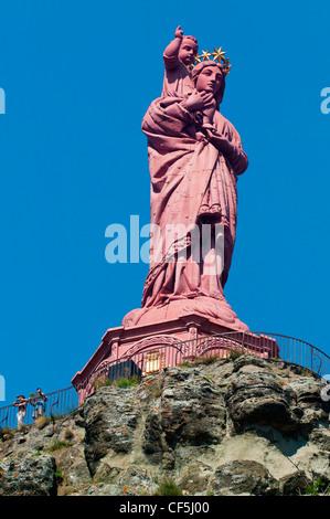Notre Dame De France,Le Puy En Velay, Haute Loire, Auvergne,France - Stock Photo
