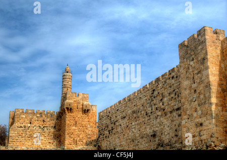Tower of David in Jerusalem, Israel. - Stock Photo