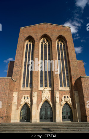 The West Front of Guildford Cathedral, built in 1928 as a result of the Diocese of Winchester being divided into - Stock Photo