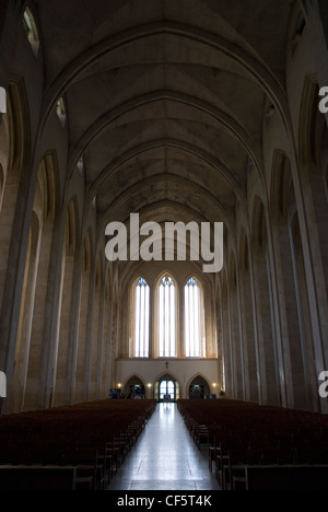 The Nave inside Guildford Cathedral, built in 1928 as a result of the Diocese of Winchester being divided into three - Stock Photo