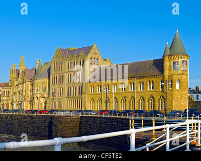 Old College Aberystwyth University, originally opened in 1865 as the Castle Hotel. It is one of finest examples - Stock Photo