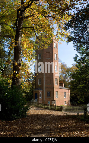 Semaphore Tower at the top of Chatley Heath near Cobham. The tower was originally built as a replacement for the - Stock Photo