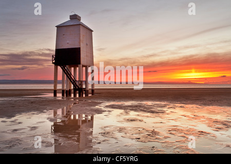 Burnham-on-Sea Low Lighthouse, built by Joseph Nelson in 1832. - Stock Photo