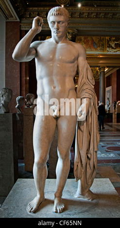 Funerary statue and honorary nephew Marcellus first kind of Emperor Augustus from 27 - 14 BC Roman Rome Italy Italian - Stock Photo