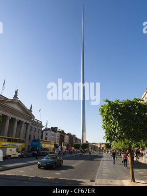 The Spire of Dublin, officially titled the Monument of Light, was completed in 2003 as part of a regeneration project - Stock Photo