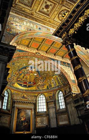 Santa Maria Maggiore church, Rome, Italy. - Stock Photo