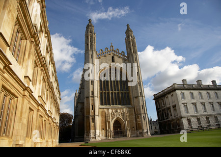 A view toward King's College Chapel. The first stone of the Chapel was laid on St James' Day, July 25, 1446, the - Stock Photo