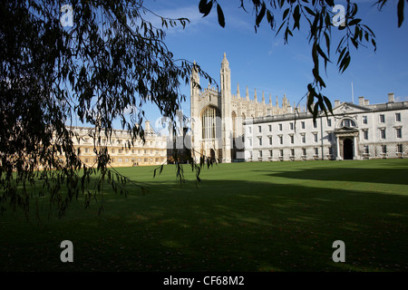 A view toward the King's College Chapel. The first stone of the Chapel was laid on St James' Day, July 25, 1446, - Stock Photo