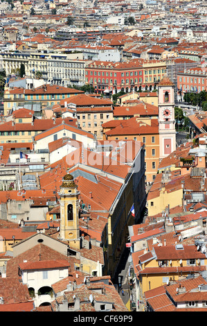 Overview of Nice, Cote d'Azur, France. - Stock Photo