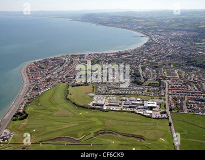 Aerial image of Rhos on Sea, Colwyn Bay, North Wales - Stock Photo