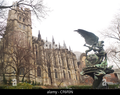 Peace Fountain at Cathedral of Saint John the Divine - Stock Photo