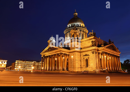 St. Isaac's Cathedral in Saint-Petersburg, Russia. - Stock Photo