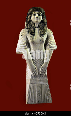 On his shoulders the cartridges of Ramses II and Tuthmosis IV of Ancient Kings 1401 - 1391 BC  Horemheb 1323 - 1295 - Stock Photo