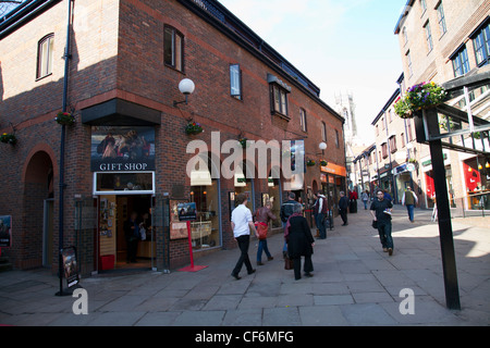 York City, Yorkshire, England outside of the Jorvik centre The JORVIK Viking Centre is a museum and visitor attraction - Stock Photo