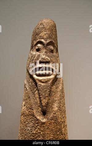 Sculpture Ejagham before 16 Century Nigeria Africa  Emblem of the secret society Eblabu - Stock Photo