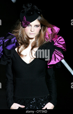 Eighties style shoulder corsage and hat - Stock Photo