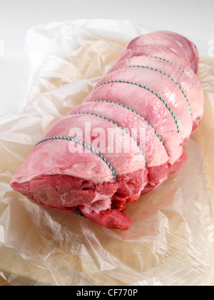Boned leg of lamb - Stock Photo
