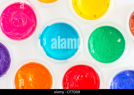 Cover from the cans of paint with color samples - Stock Photo