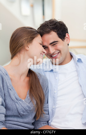 Portrait of a lovely couple looking at each other - Stock Photo
