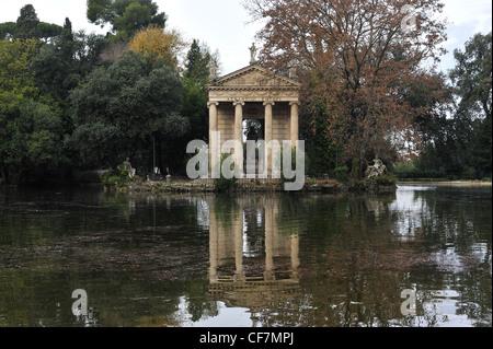 Temple of Aesculapius in Giardino del Lago lake garden Villa ...
