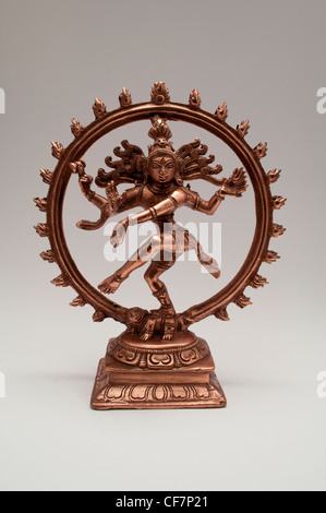 Brass statuette of Hindu deity Shiva - Stock Photo