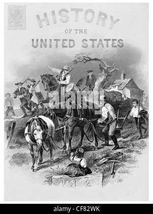 History of the United States settlers - Stock Photo
