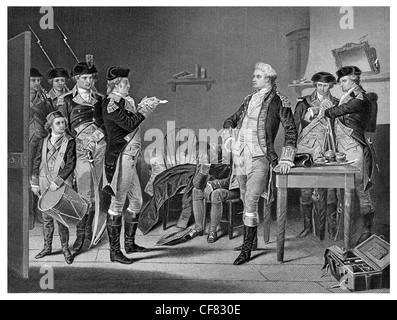 Death Warrant issued to Major John Andre 1780 - Stock Photo