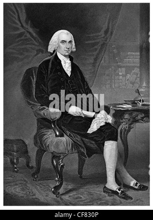 James Madison 1751 1836 Fourth president of the United States 1809  Democratic Republican and Secretary of State - Stock Photo