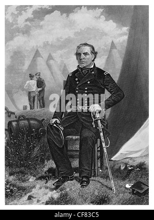 Zachary Taylor U.S. Army Major general whig 1784 to 1850 12th president of the United States 1849 to 1850 - Stock Photo