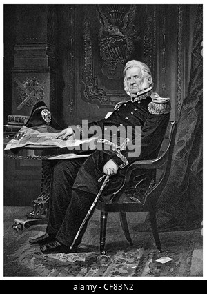 Winfield Scott United States Army general 1786 1866 - Stock Photo