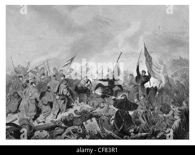 Capture of Fort Donelson Tennessee by Union forces under General U. S. Grant 1862 Stock Photo