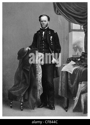 Union General William Tecumseh Sherman in Civil War uniform 1864 - Stock Photo