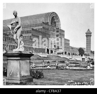 1926 Crystal Palace London Sir J Paxton glass Iron architecture - Stock Photo
