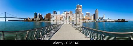 City skyline, Embarcadero, San Francisco, California, USA - Stock Photo