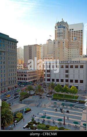 United States, California, San Francisco, downtown, Union square - Stock Photo