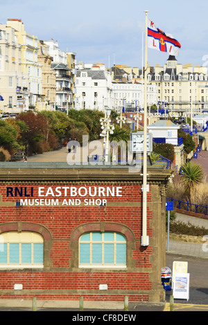 The RNLI Lifeboat museum and shop on Eastbourne Seafront, East Sussex, England - Stock Photo