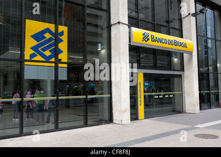 Banco do Brasil, Avenida Paulista (Paulista Avenue), Sao Paulo, Brazil - Stock Photo