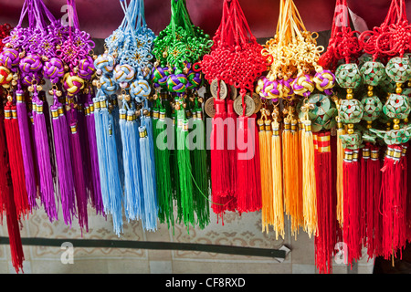 Souvenirs for sale along the famous West Street in Yangshuo China - Stock Photo