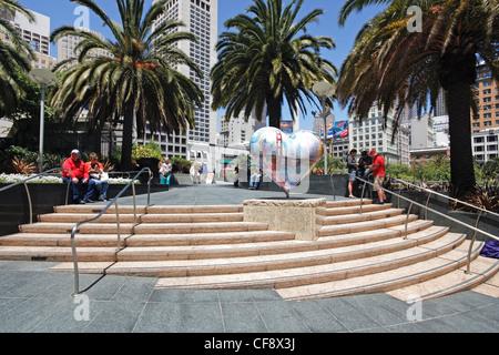 Union Square, Downtown, San Francisco, California, United States of America - Stock Photo