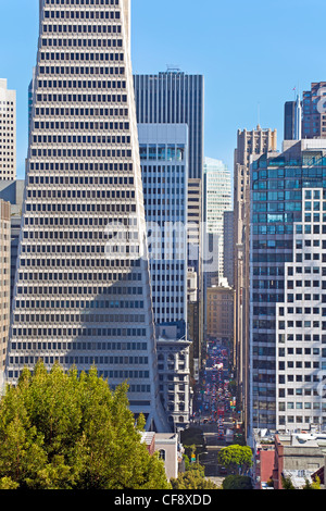Transamerica Building, San Francisco, California, USA - Stock Photo