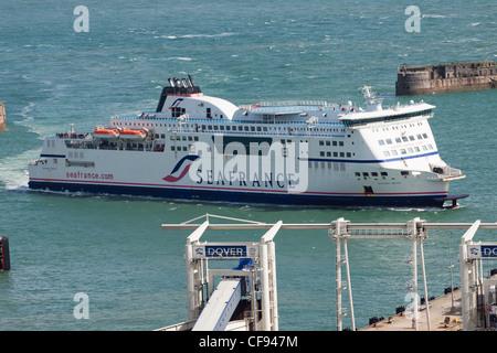 Seafrance car ferry Berlioz, port of Dover, Kent, England, UK - Stock Photo