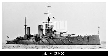 HMS Lion battlecruiser British Royal Navy Splendid Cats guns gun turret flagship Grand Fleet battleship warship - Stock Photo