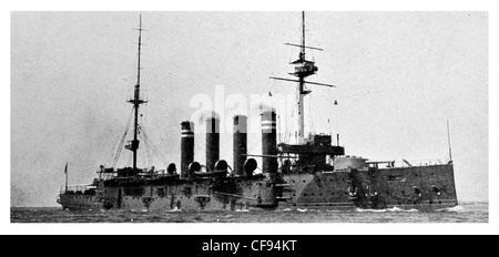 HMS Hogue was a Cressy-class armoured cruiser in the Royal Navy. Hogue was sunk by the German U-boat U-9 on 22 September - Stock Photo
