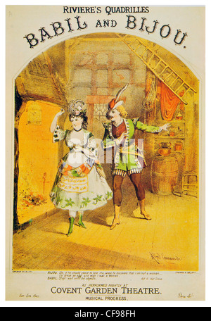 Quadrilles from Babil and Bijou musical drama by Dion Boucicault and JR Planche Theatre Royal Covent Garden - Stock Photo