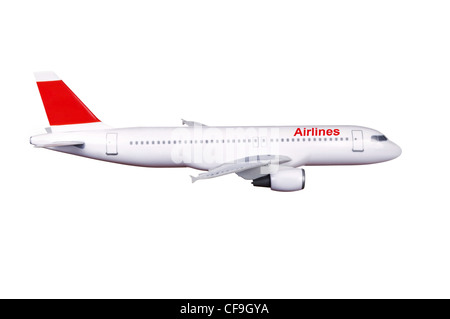 commercial plane model isolated on white background - Stock Photo