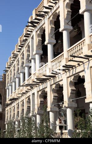 Building in Souq Waqif, Doha Qatar - Stock Photo