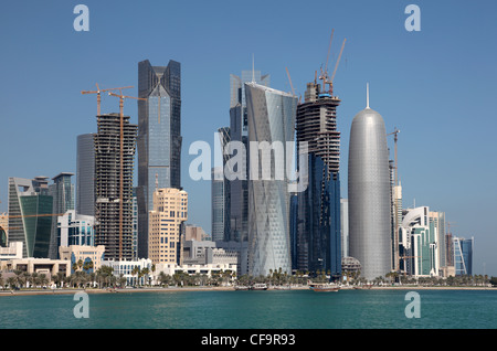 Doha downtown district West Bay, Qatar - Stock Photo